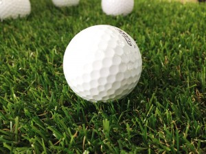 golf course and golf ball