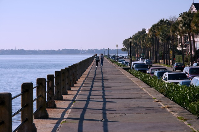walkway along a south carolina waterway